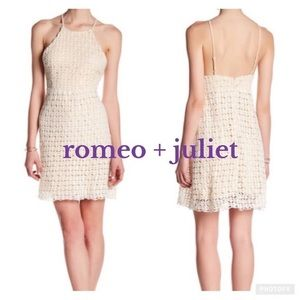 Romeo and Juliet Couture crochet mini dress